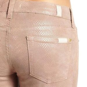 NWT 7 For All Mankind snakeskin pant - pink!